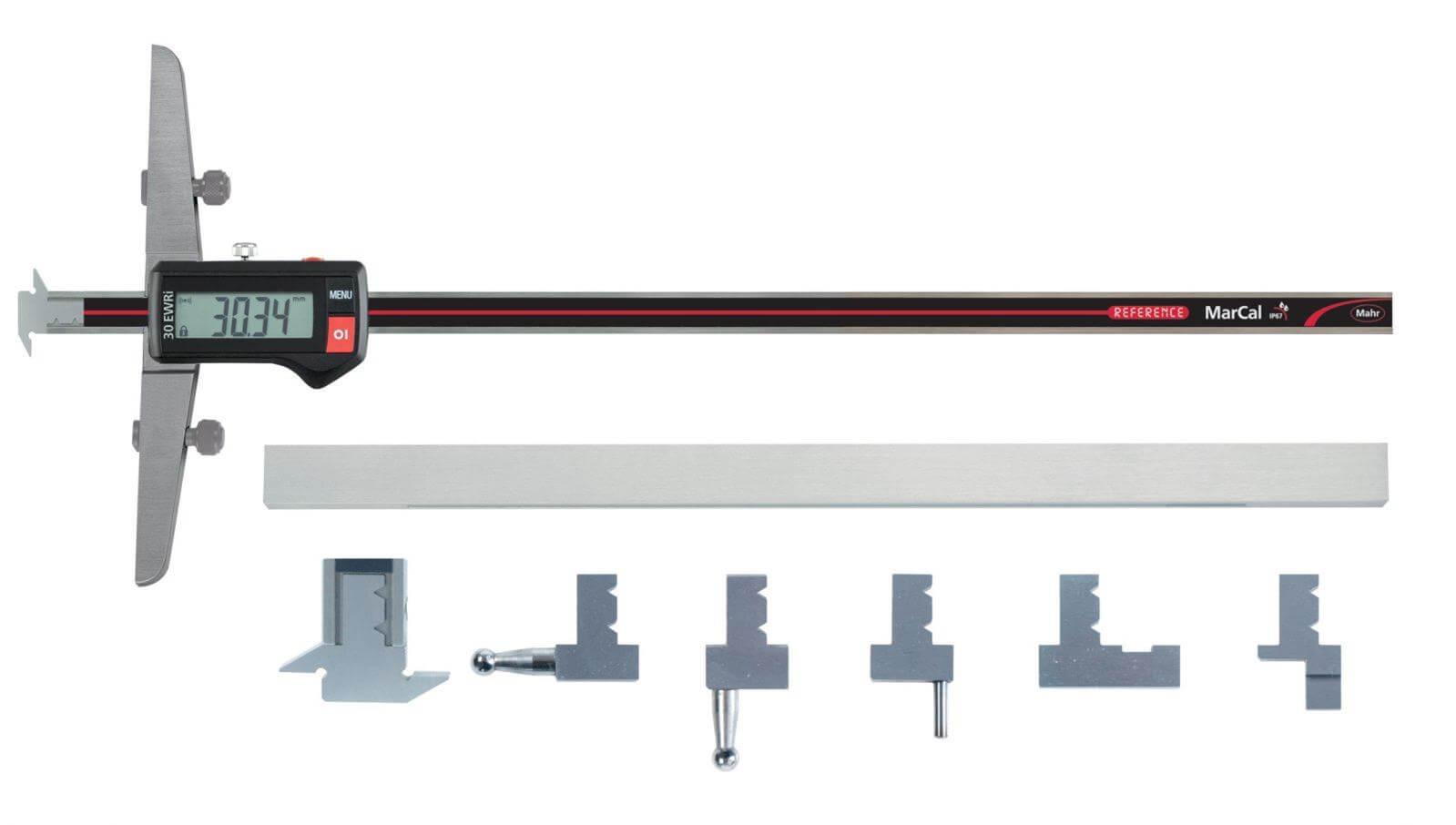Thước đo độ sâu cũng được thiết kế với đa dạng đầu đo