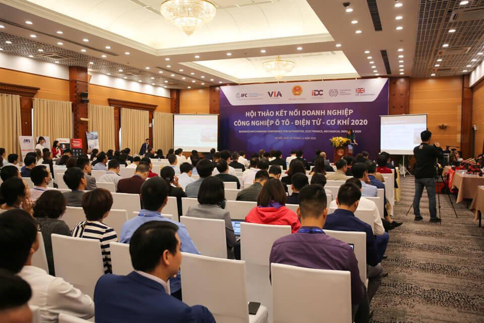 Toàn cảnh diễn ra hội thảo kết nối doanh nghiệp công nghiệp ô tô - điện tử - cơ khí 2020