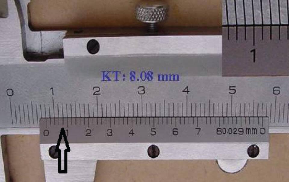 Cách đọc thông số trên thước cặp cơ