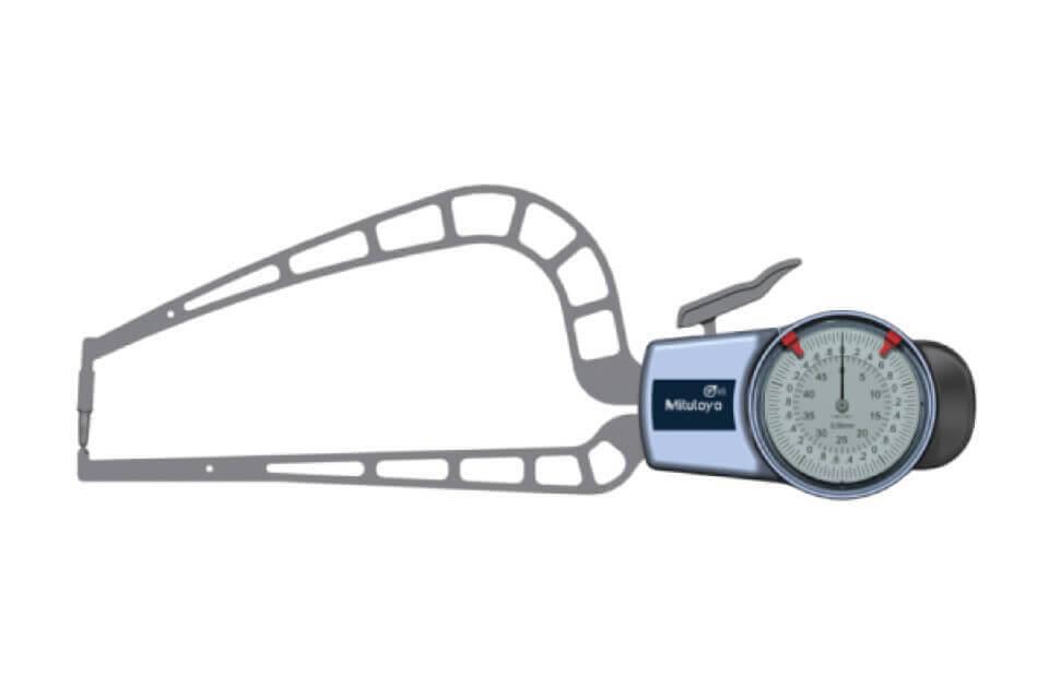 Ngàm đo kích thước ngoài loại đồng hồ Mitutoyo 209-407