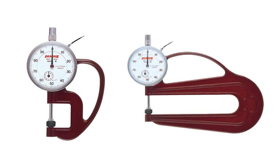 Đồng hồ đo độ dày Peacock model G và H