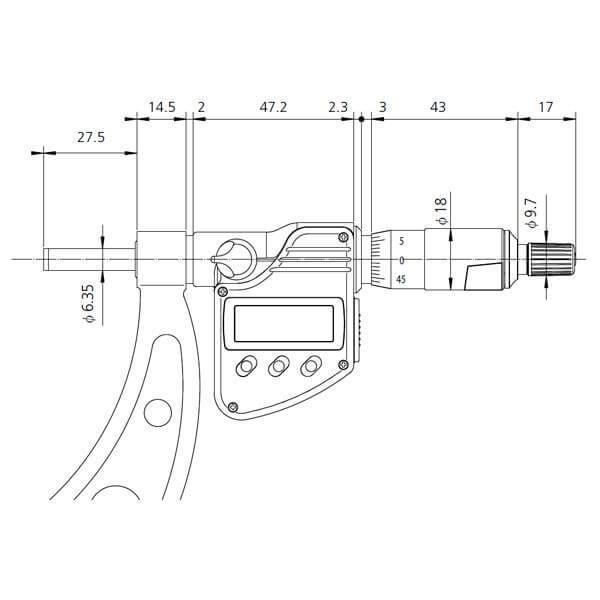 Panme đo ngoài điện tử Mitutoyo 340_3