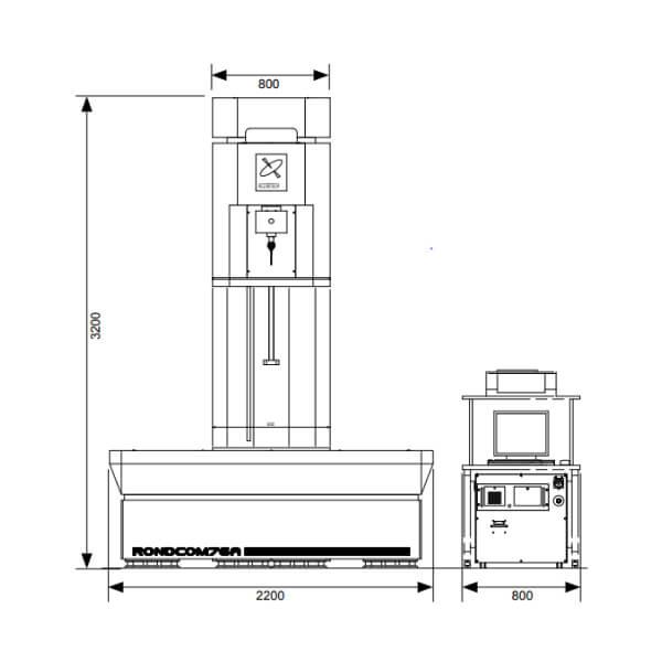 Máy đo độ tròn, độ trụ loại bộ cảm biến xoay RONDCOM 76A_2