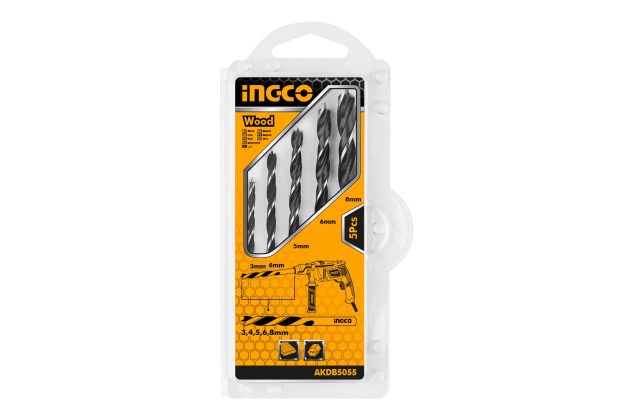 Bộ 5 mũi khoan gỗ INGCO AKDB5055