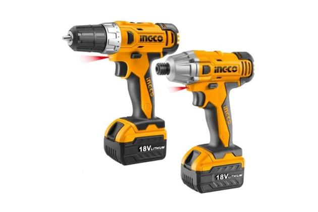 Bộ máy khoan và máy bắn vít dùng pin INGCO CKLI18021