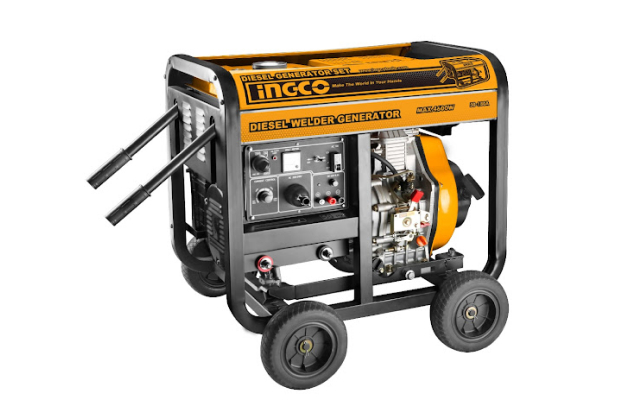 Máy phát điện và hàn dùng dầu diesel INGCO GDW65001