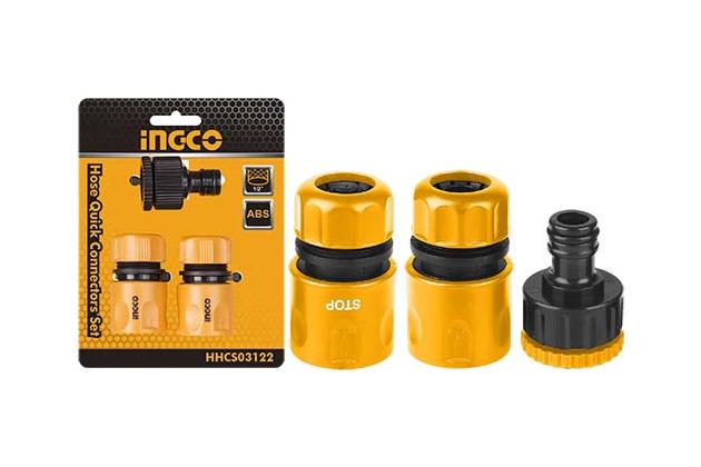 Bộ 3 đầu nối nhanh máy xịt rửa INGCO HHCS03122