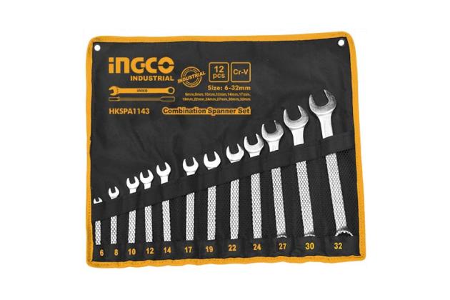 Bộ 12 cờ lê vòng miệng INGCO HKSPA1143