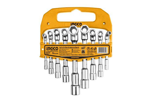 Bộ 9 chìa lục giác vặn góc chữ L INGCO LASWT0901