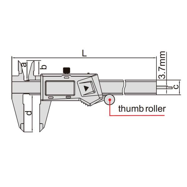 Thước kẹp điện tử Insize (Loại tiêu chuẩn, không chống nước) 1108_2