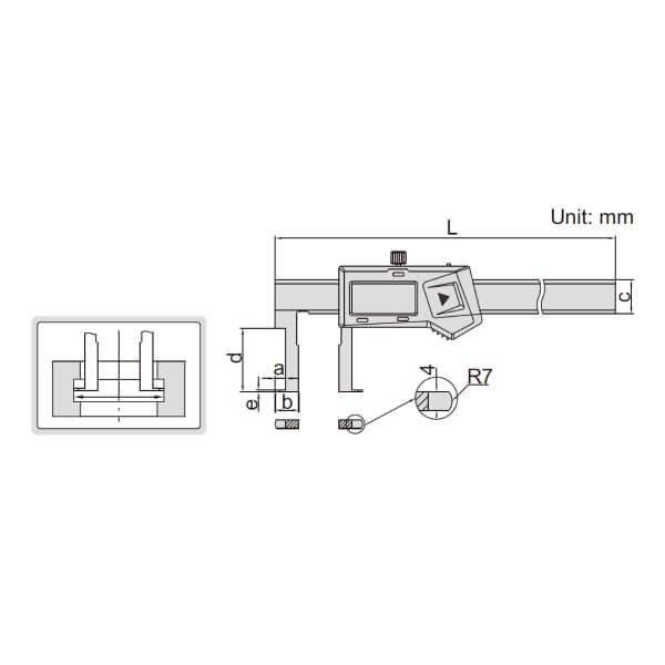 Thước kẹp điện tử đo rãnh Insize (Không chống nước) 1120_2