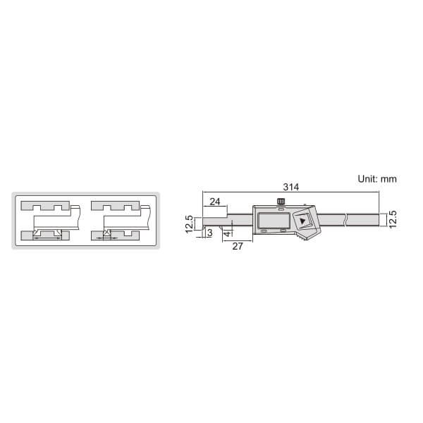 Thước kẹp điện tử đầu móc Insize (Không chống nước) 1122_2