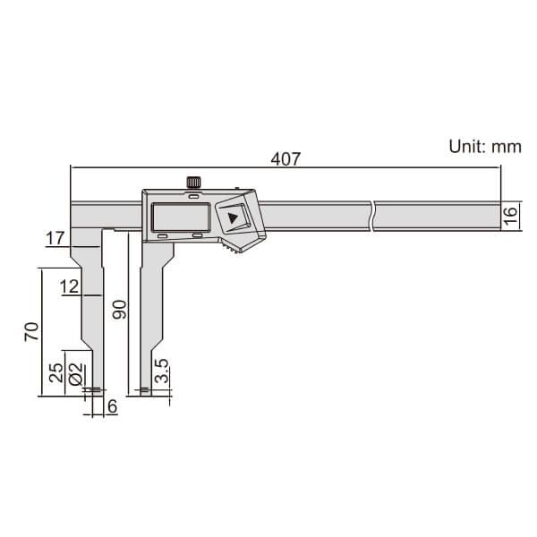 Thước kẹp điện tử nhiều đầu đo Insize (Không chống nước) 1124-300A_2