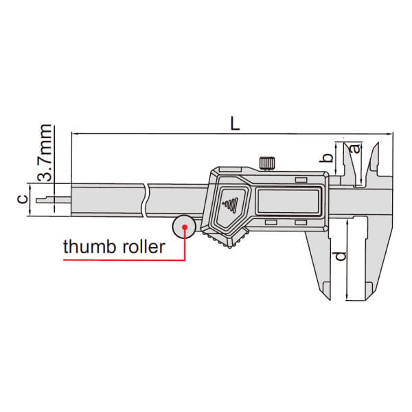 Thước kẹp điện tử Insize cho người thuận tay trái (Không chống nước)_2