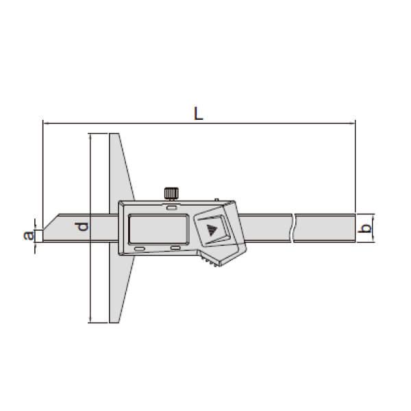 Thước đo sâu điện tử (loại tiêu chuẩn, không chống nước) Insize 1141_2