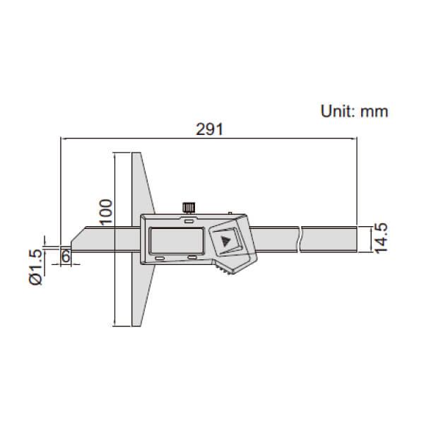 Thước đo sâu điện tử đầu đo dạng điểm (không chống nước) Insize 1143_2