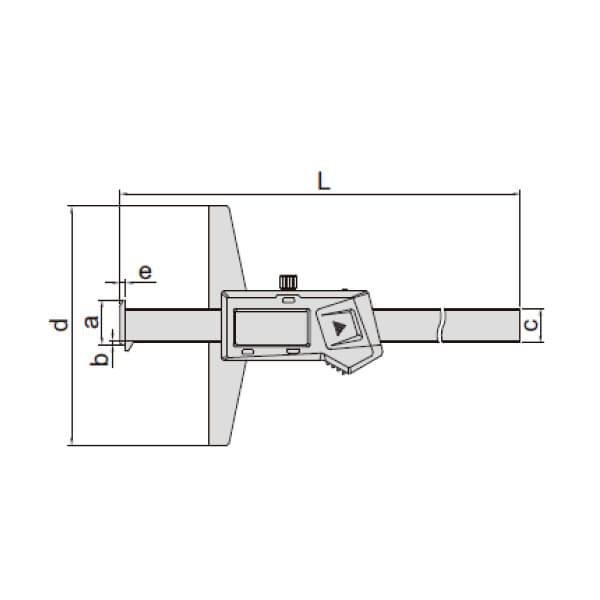 Thước đo sâu điện tử loại 2 ngàm móc (không chống nước) Insize 1144_2