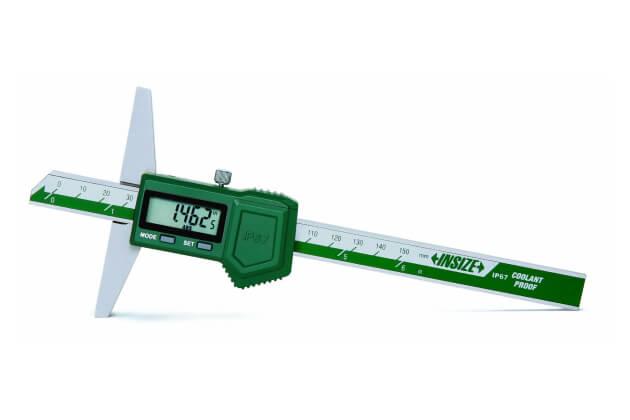 Thước đo độ sâu điện tử chống nước IP67 Insize 1149_1