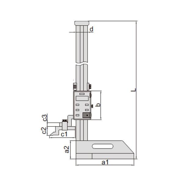 Thước đo cao điện tử (không chống thấm nước) Insize 1150_2