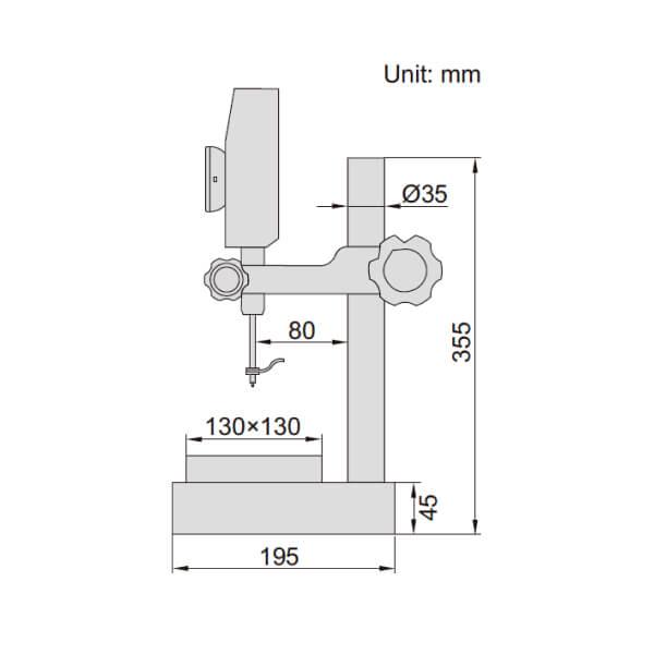 Thước đo cao điện tử độ chính xác cao Insize 1155_2