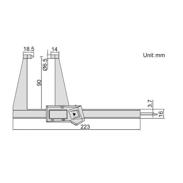 Thước kẹp điện tử đo độ dày phanh đĩa Insize (Không chống nước) 1162_2