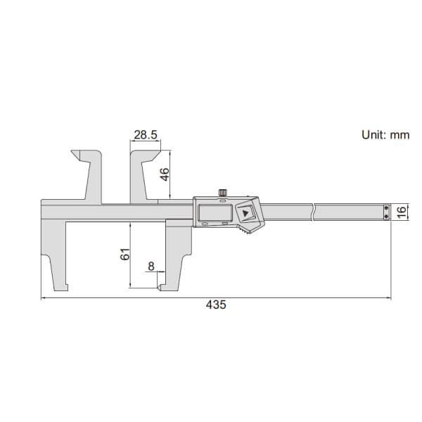 Thước kẹp điện tử đo phanh tang trống Insize (Không chống nước) 1168_2