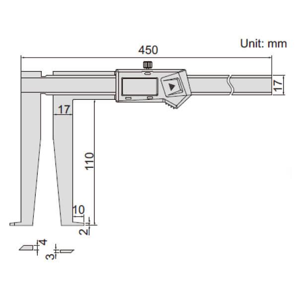 Thước kẹp điện tử đo rãnh Insize (Không chống nước) 1178_2