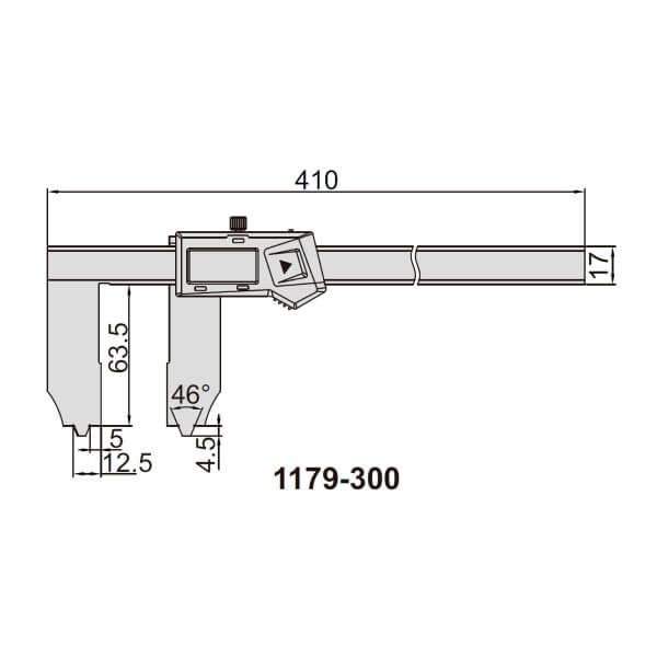 Thước kẹp điện tử đo khe/rãnh Insize (Không chống nước) 1179_2
