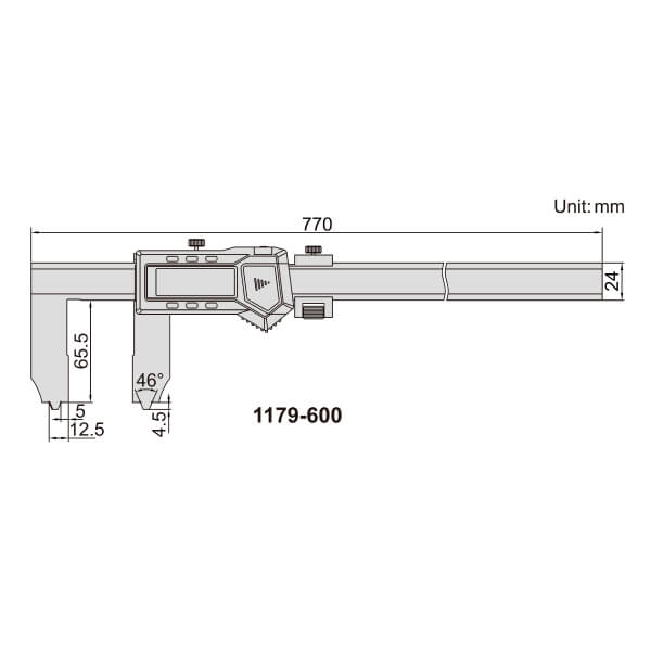 Thước kẹp điện tử đo khe/rãnh Insize (Không chống nước) 1179_3