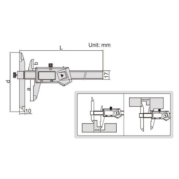 Thước kẹp điện tử mỏ điều chỉnh Insize (Không chống nước) 1186_2