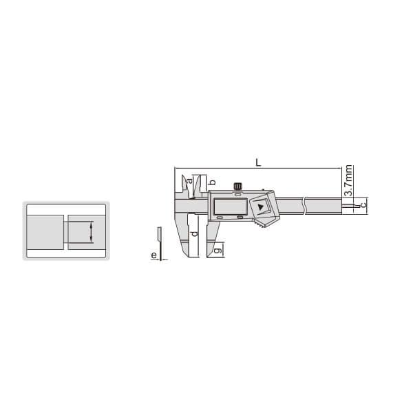 Thước kẹp điện tử mỏ dẹt Insize (Không chống nước) 1188_2