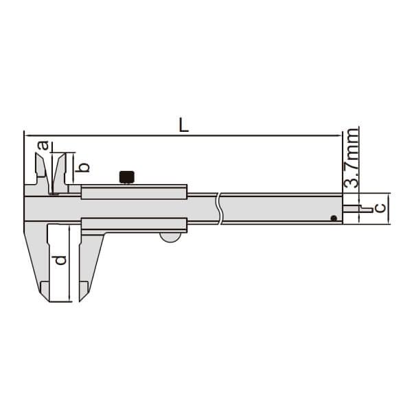 Thước kẹp cơ khí Insize 1205_2