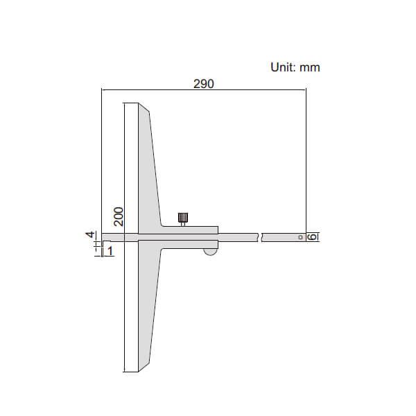 Thước đo sâu cơ khí loại ngàm móc Insize 1243_2
