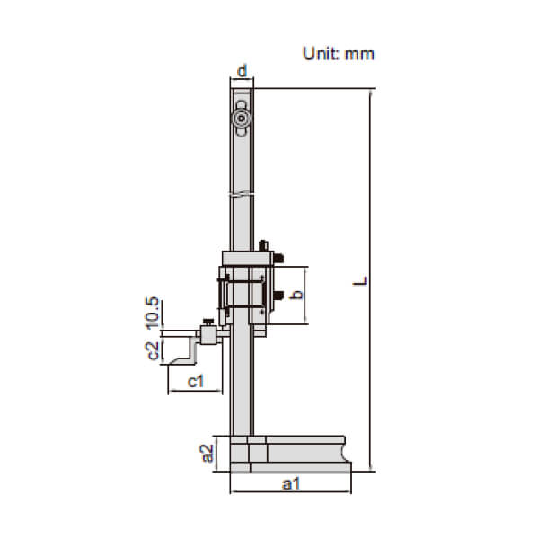 Thước đo cao cơ khí Insize 1250_2
