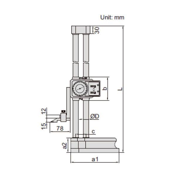 Thước đo cao đồng hồ Insize 1351_2