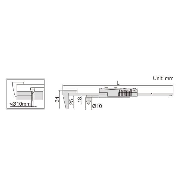 Thước kẹp điện tử đo bán kính Insize (Không chống nước) 1524_2