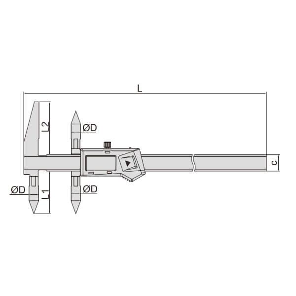 Thước kẹp điện tử đo khoảng cách tâm Insize (Không chống nước) 1525_2