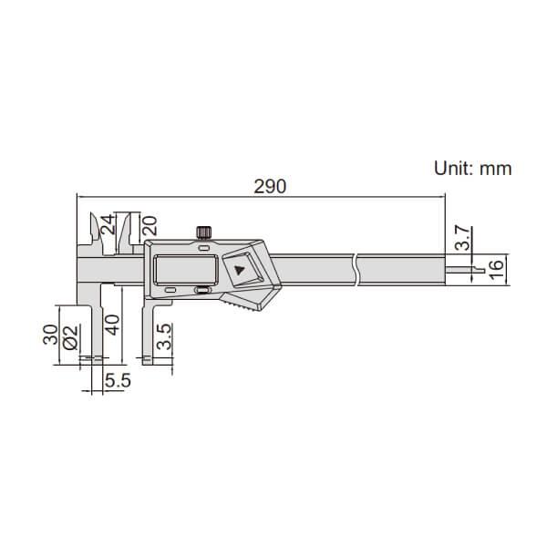 Thước kẹp điện tử nhiều đầu đo Insize (Không chống nước) 1526-200_2
