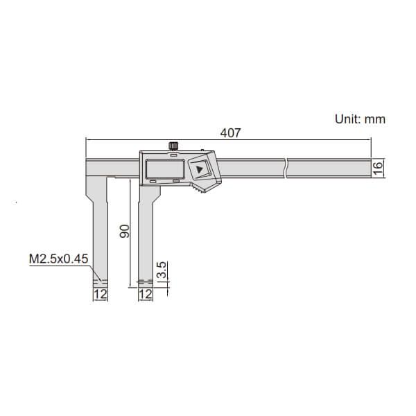 Thước kẹp điện tử nhiều đầu đo Insize (Không chống nước) 1530_2