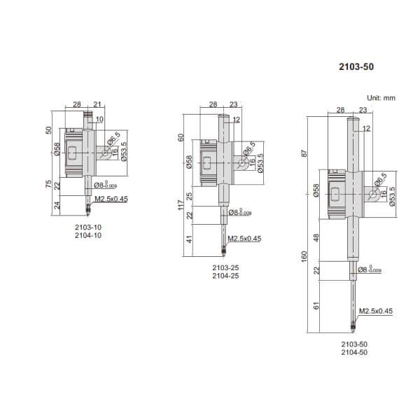 Đồng hồ so điện tử loại nâng cao Insize 2103_3