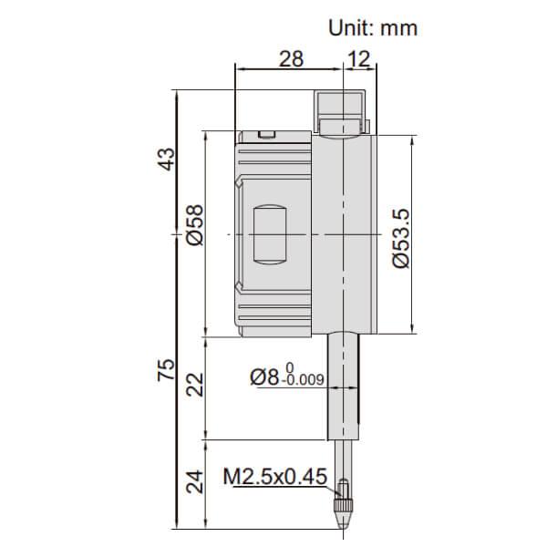 Đồng hồ so điện tử với đòn bẩy nâng Insize 2109_2
