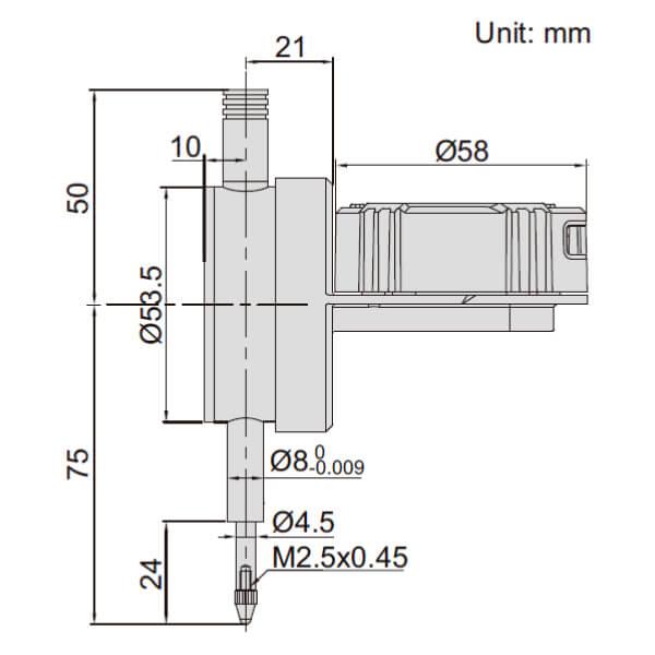 Đồng hồ so điện tử loại mặt xoay đa năng Insize 2118_2