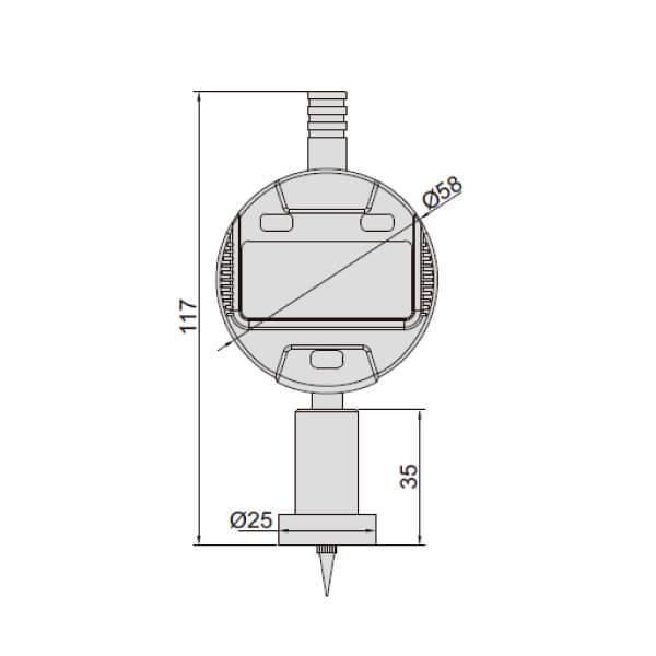 Đồng hồ đo độ sâu điện tử Insize 2142_2