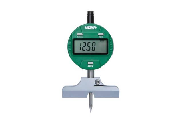 Đồng hồ đo độ sâu với đế dạng lưỡi dao 60° Insize 2143-101_1