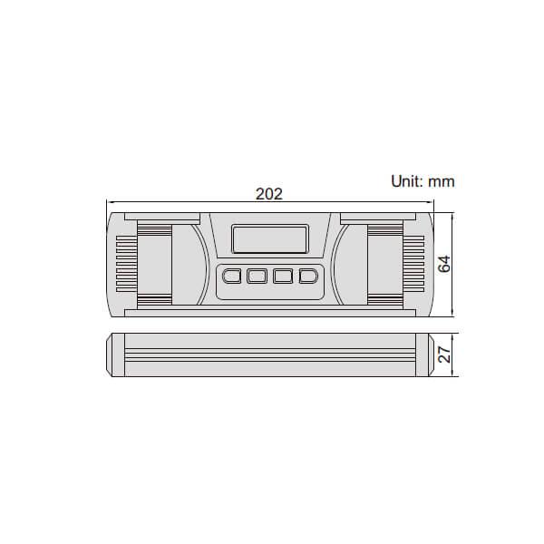 Thước thủy (nivo) điện tử đo độ dốc Insize 2175 _3