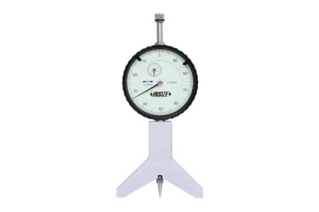 Đồng hồ đo độ sâu với đế dạng lưỡi dao 120° Insize 2189-30