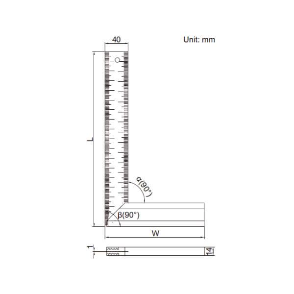 Thước đo thử độ vuông góc Insize 2275_3