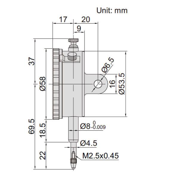 Đồng hồ so cơ khí loại cơ bản Insize 2301_2