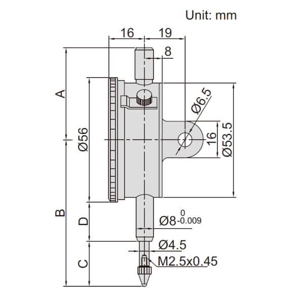 Đồng hồ so cơ khí độ chính xác cao Insize 2313_2
