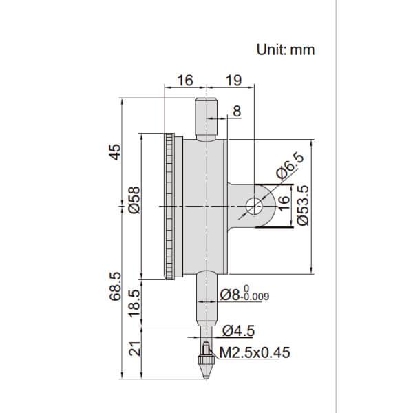 Đồng hồ so cơ khí chống sốc Insize 2314_2